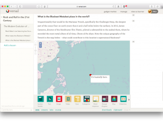 Default modules include maps and slide shows, among others things.