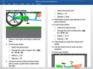 Each project comes with step-by-step guides for students.