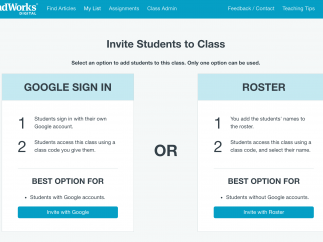 Create a class and then invite students to join your class through one of two options.