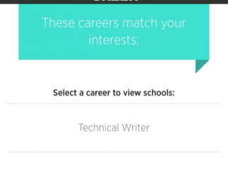 C'reer then recommends the top career paths that match your profile.
