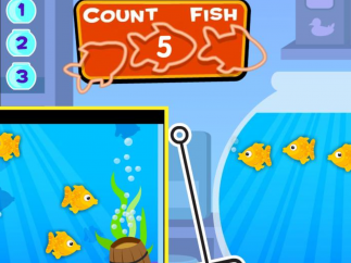 Amazing Aquarium: Fill the fish bowl with the appropriate number of fish!