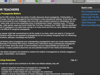 The For Teachers section has a video tutorial and PDF lesson plans.