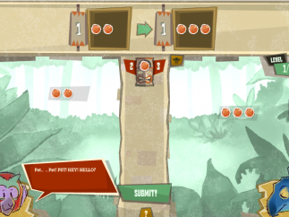The basic Tikiquation game screen