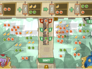 More fruit makes for more challenging puzzles