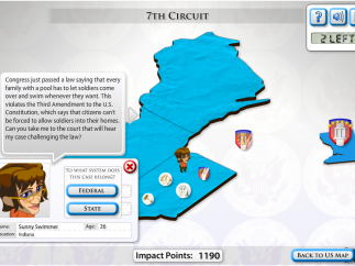 Learn about cases and send citizens to the correct courts.