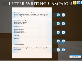 Organize a letter-writing campaign to your Congressperson.