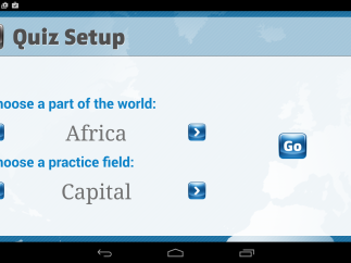 Users can customize the quizzes they take, focusing on particular regions and information.