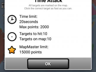 There are both timed and untimed challenges; shown here are the rules for Time Attack.