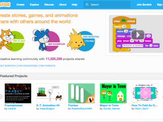 The Scratch home page