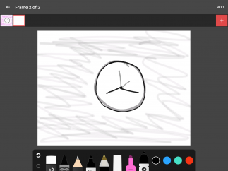 Select tools and colors and start drawing.