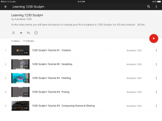 Video tutorials can be launched from within the app.