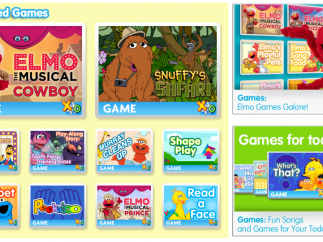 A selection of game offerings includes those designed to teach about animals, self-care, math, emotions, and letters.
