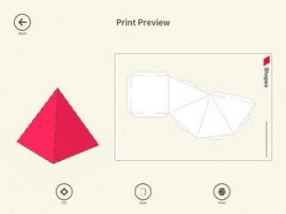 Kids can print nets and fold them to create solid figures.