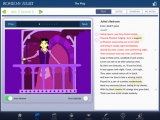 Students can view animations alongside the text.