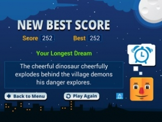 Compare current score to highest score and see which was the highest scoring sentence.