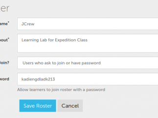 Collections can be shared with a class using a roster.