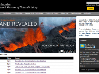 The Smithsonian National Museum of Natural History website includes science and social studies resources.