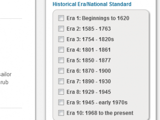 History is divided into 10 separate eras on the site.