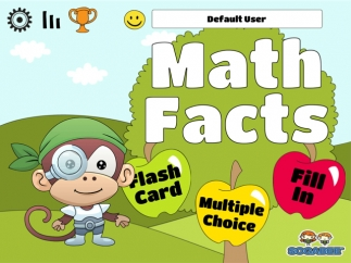Kids can choose from Flash Card, Multiple Choice, or Fill In activities.