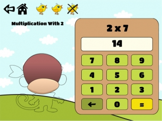 Each correct answer rewards kids as their characters are gradually colored in; this also helps them monitor progress as they play.