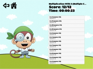 SoGaBee Math also tracks correct and incorrect answers.
