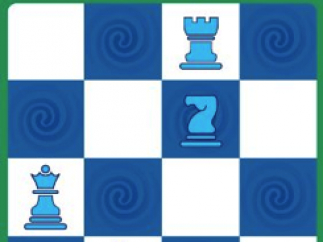Puzzle in easy level with four pieces.