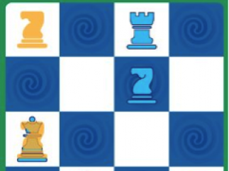 The player held a finger down on the knight to see possible moves.