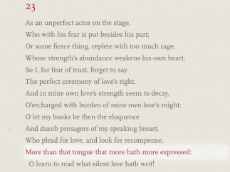 Read the entire sonnet, with lines highlighted as they're read aloud.