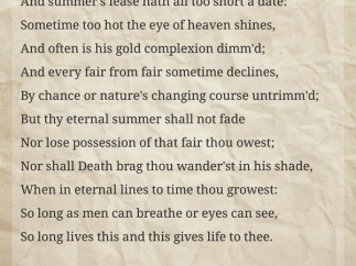 Scroll through one sonnet at a time, reading or listening to it read aloud.