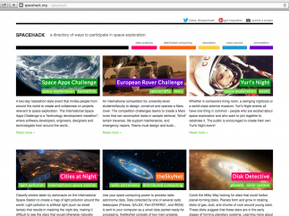 Spacehack is a directory of projects and data in the field of space exploration.