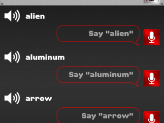 Word difficulty ranges from level 1 to 5.