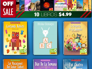 Most titles are also available in Spanish through the in-app store.
