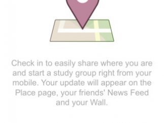 SparkNotes tries to keep a high school-hip vibe, and encourages teens to check-in via Facebook.
