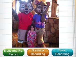 Students can rerecord, save, or add to their recordings.
