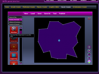 Classic Creator (AKA Classic Shooter) interface shows certain features that need to be unlocked to use.