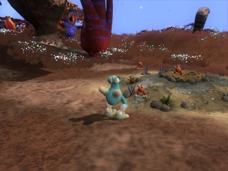 Exploring unknown lands is a big part of the creature stage.