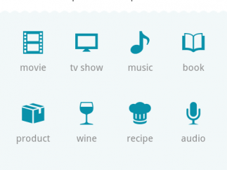 When adding a new item, users see productivity categories as well as lifestyle/commercial categories.