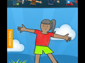 Kids can dress Stella or Stanley in many different outfits (some require in-app purchase).