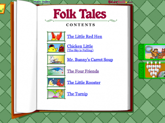 At the end, kids put it all together to read short animated stories.