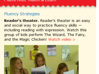 There's a nice focus on reading aloud and fluency.