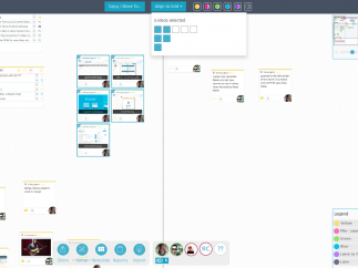 The clean interface features a huge digital whiteboard.