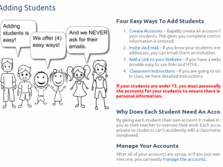 With lots of ways to add students, the site keeps privacy at the forefront.