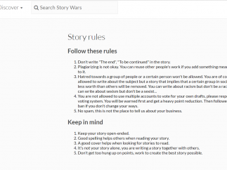 There's a brief list of community norms and rules.