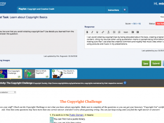Students view and complete playlist activities and assigned tasks.