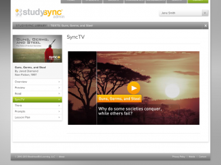 An example of a SyncTV episode for a non-fiction text.
