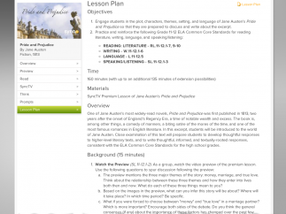 Lesson plans accompany each text within this module.