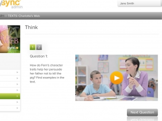 SyncTV clips model age appropriate critical discussion and text analysis.