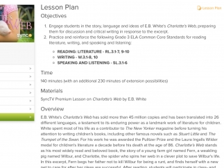 The lesson plans give teachers wonderful guidance for a deep dive into any of the texts.