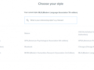 Choose among 15 prominent citation styles, or delve deeper to access thousands more.