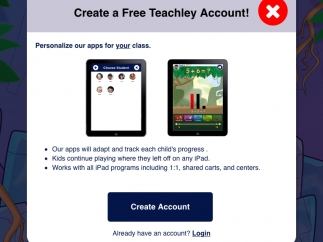 Teachers can set up classroom account to track individual students' progress.